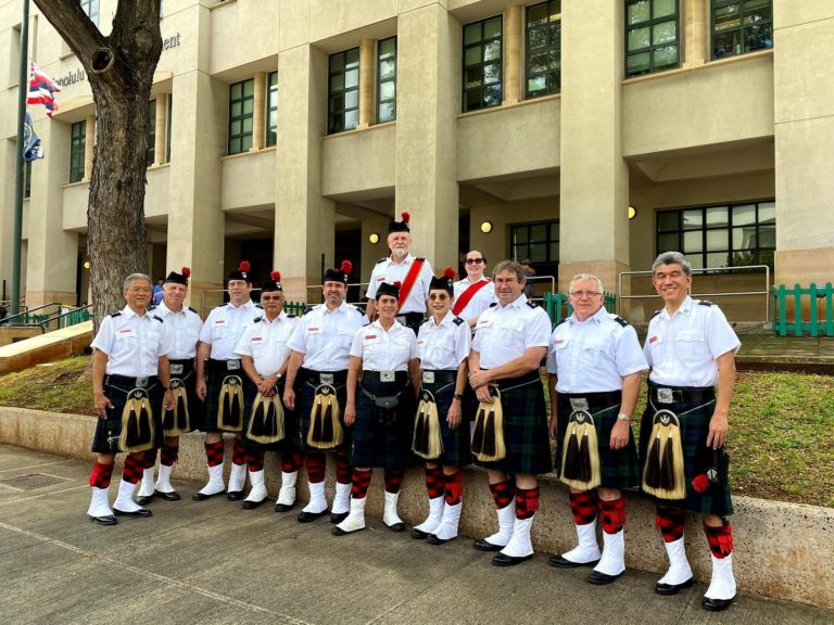 Celtic Pipes and Drums of Hawaii at the HPD Officer Kalama's Final Salute