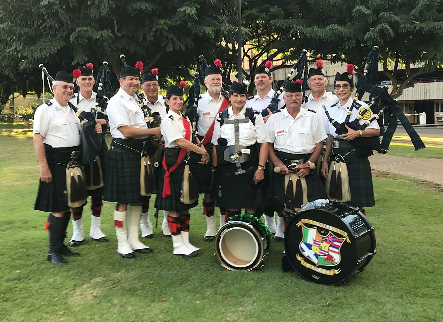 Celtic Pipes & Drums of Hawaii at Pearl Harbor Day