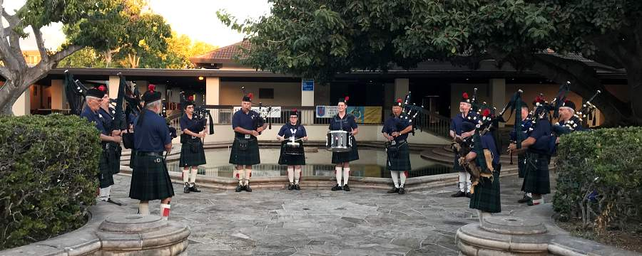 Bagpipes at Ceilidh Hawaii Scottish Games