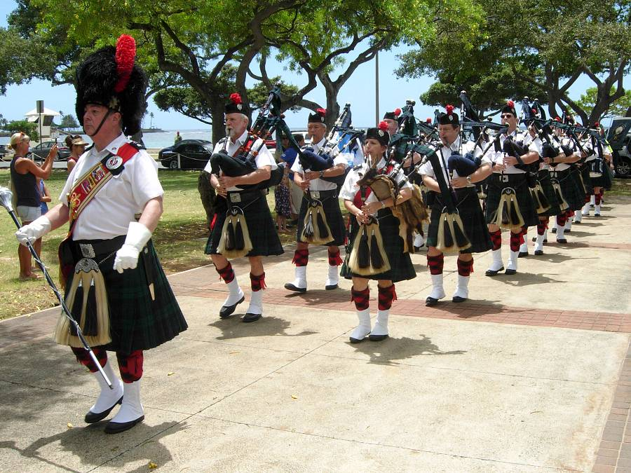 Celtic Pipes & Drums of Hawaii at Highland Games Hawaii