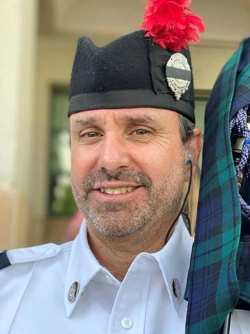 Joe Kindrich, bagpiper