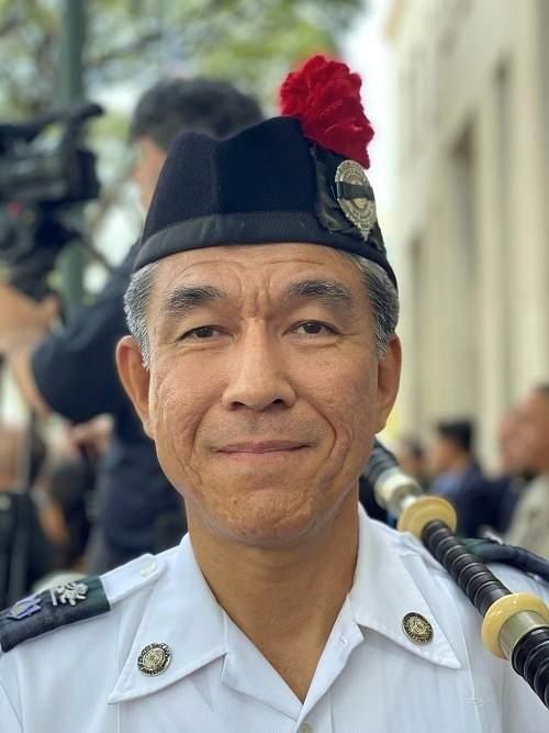 Masa Yamaguchi, bagpiper