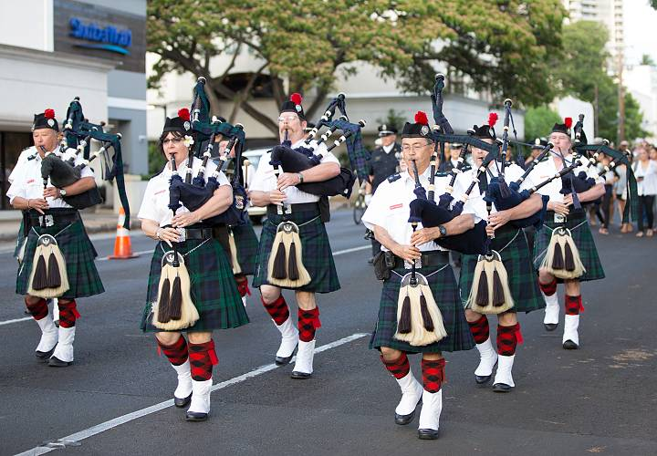 Celtic Pipes and Drums of Hawaii at Police Week Memorial Parade