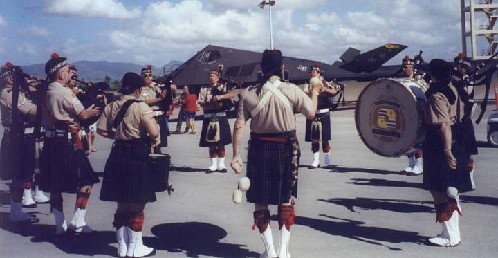 Celtic Pipes and Drums of Hawaii in Pearl Harbor