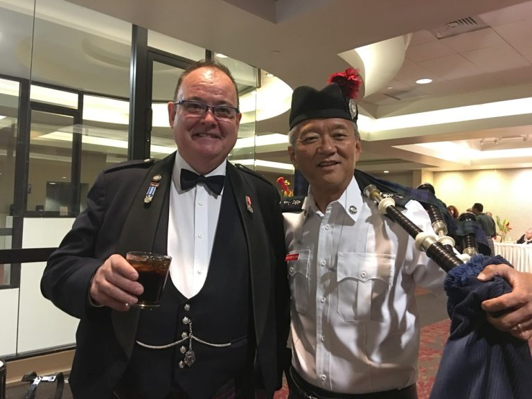 Celtic Pipes and Drums of Hawaii at 2019 Burns Supper