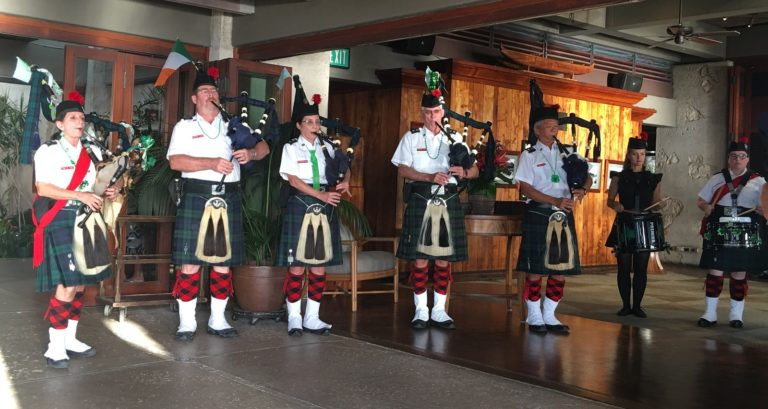 Celtic Pipes and Drums of Hawaii at 2019 St. Patrick's Day