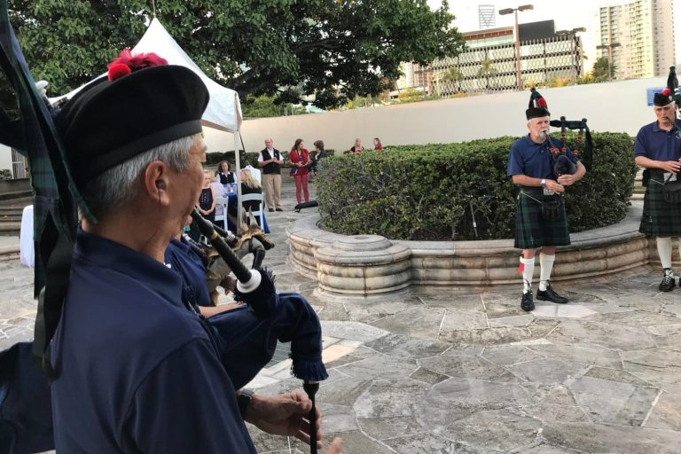 Celtic Pipes and Drums of Hawaii at 2019 Ceilidh Honolulu