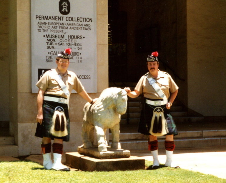 At the Honolulu Art Museum