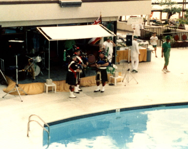 Celtic Pipes and Drums of Hawaii at St. Patrick's Day in 1993