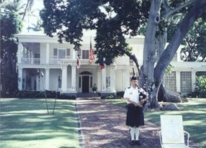 Celtic Pipes and Drums of Hawaii at Washington Place